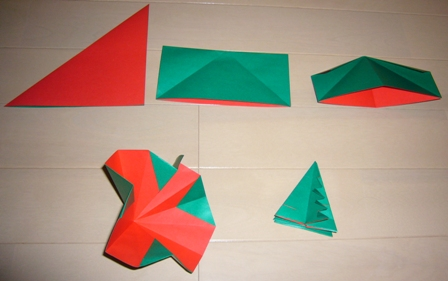 Origami sophie no sekai le monde de sophie - Sapin en papier origami ...